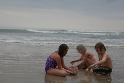 the kids have really missed the beach